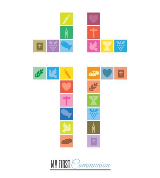十字宗教アイコン - 聖餐点のイラスト素材/クリップアート素材/マンガ素材/アイコン素材