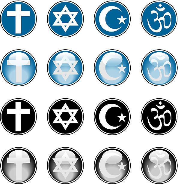 religious icons - religious symbols stock illustrations, clip art, cartoons, & icons