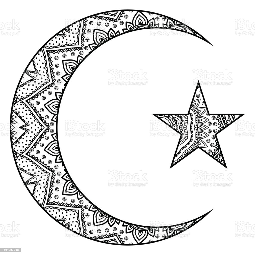 Religious islamic symbol of the star and the crescent decorative religious islamic symbol of the star and the crescent decorative sign for making and tattoos buycottarizona