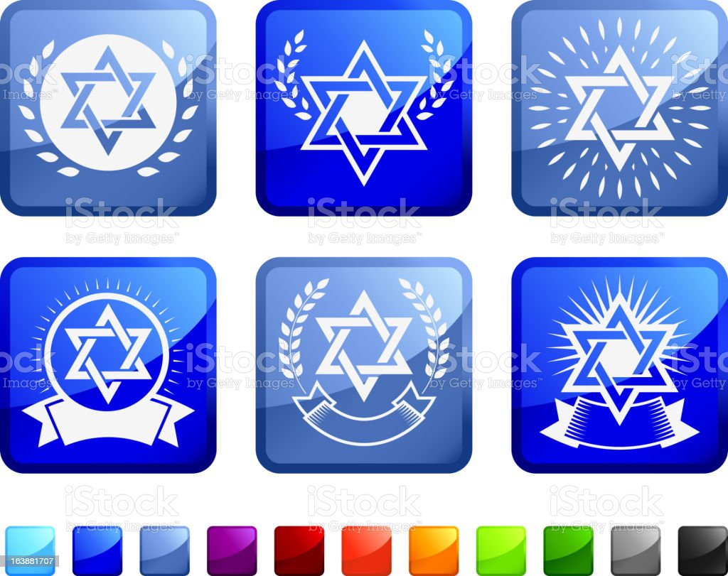 Religious Jewish Star Imagery royalty free vector icon set stickers royalty-free religious jewish star imagery royalty free vector icon set stickers stock vector art & more images of badge