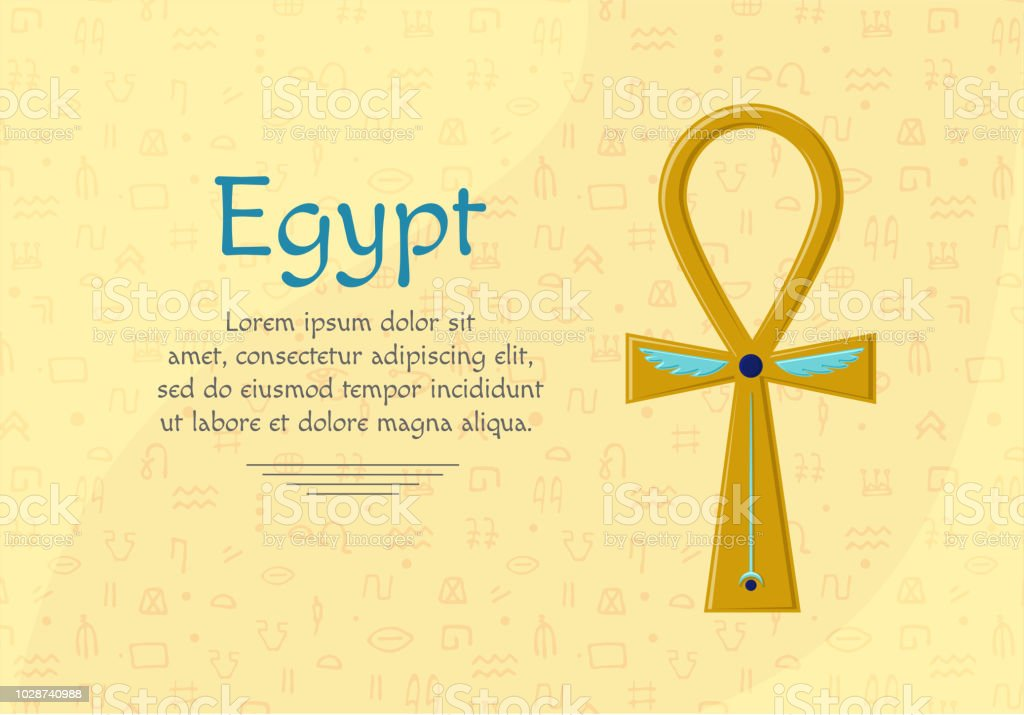 Religious Sign Of The Ancient Egyptian Cross Ankh A Symbol Of Life