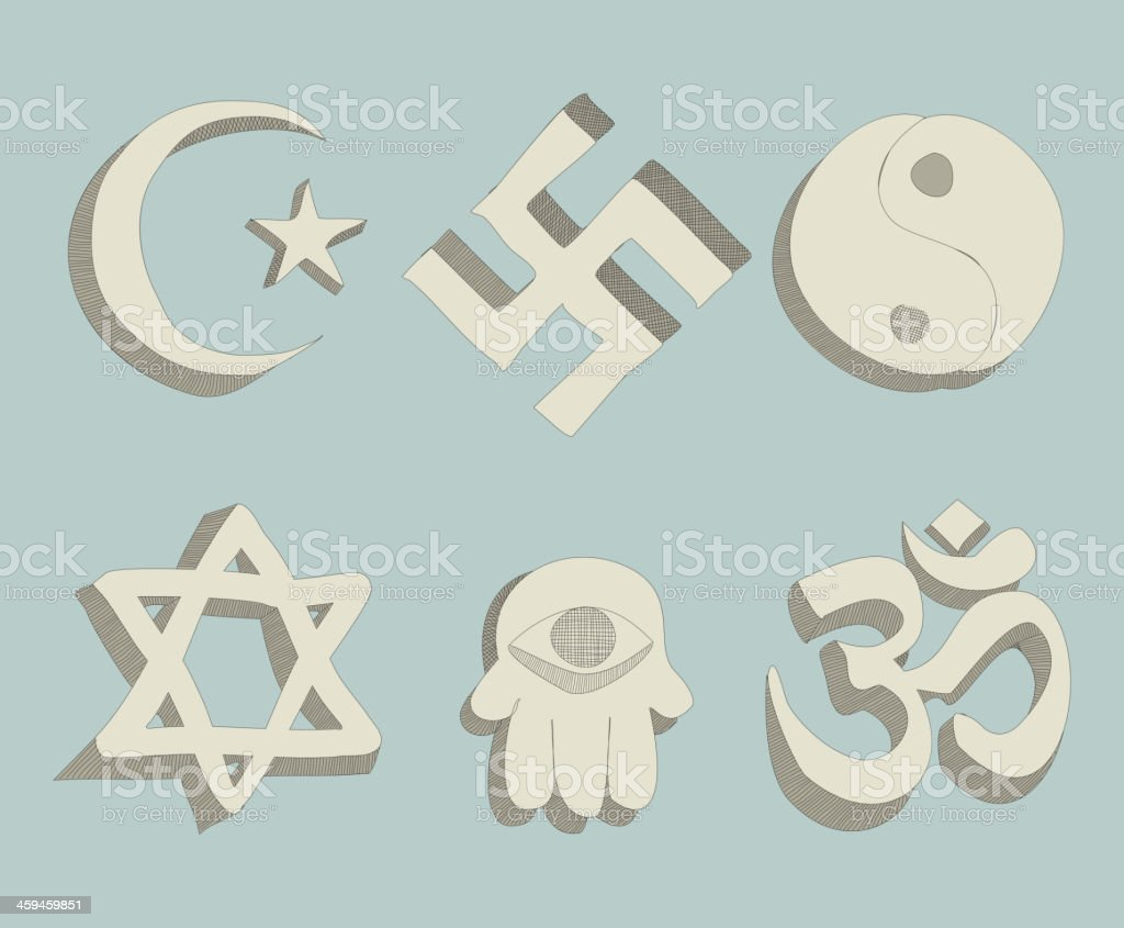religious signs doodle vector vector art illustration