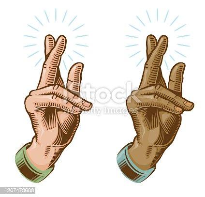 A classic Christian hand symbol