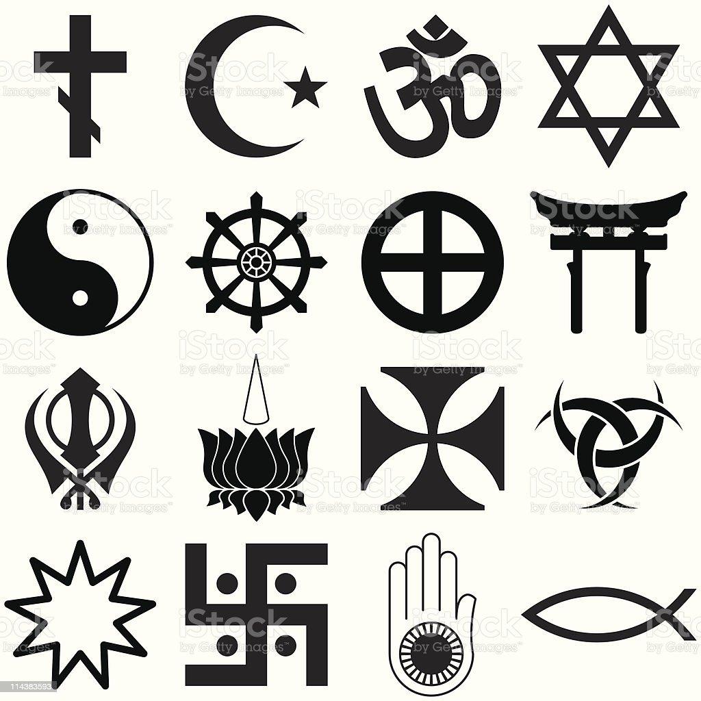Religious symbols stock vector art more images of buddhism religious symbols royalty free religious symbols stock vector art amp more images of buddhism buycottarizona