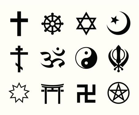 Collection of religious symbols