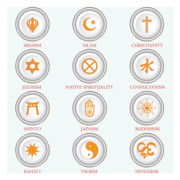 religious symbols - religious symbols stock illustrations, clip art, cartoons, & icons