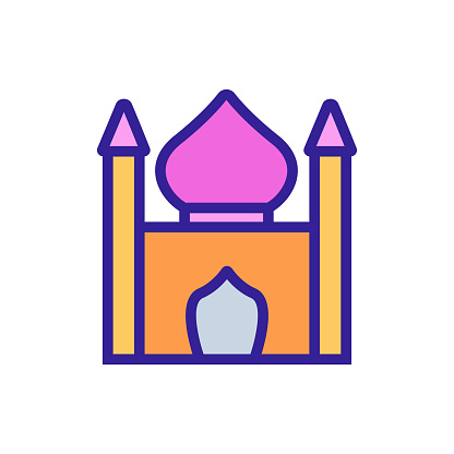 religious synagogue icon vector outline illustration