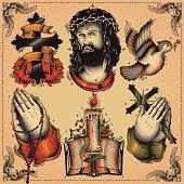 Religious tattoo flash