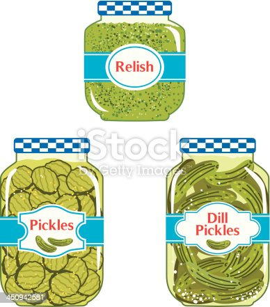 Relish & Pickles jars