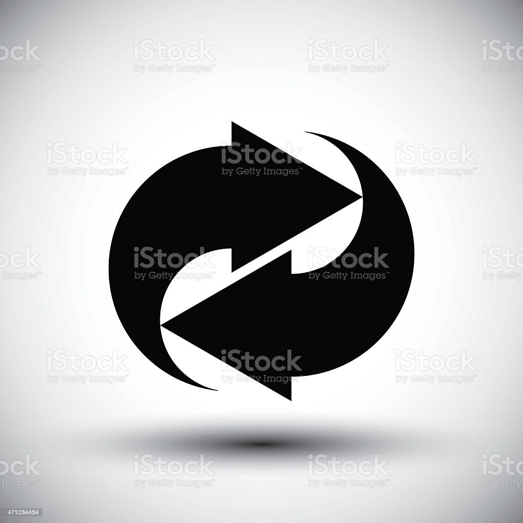 Reload refresh arrows loop vector simple single color icon. vector art illustration