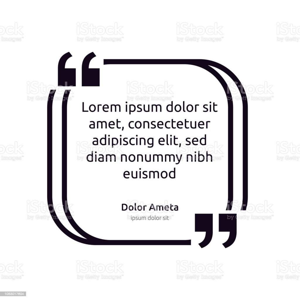 Remark Quote Text Box Poster Template Concept Blank Empty