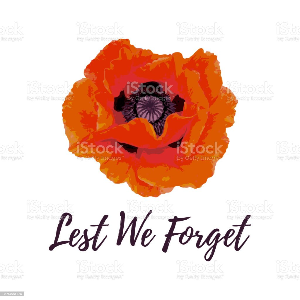 Remembrance Day card. vector art illustration