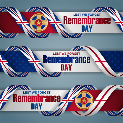Remembrance day celebration in Great Britain, web banners