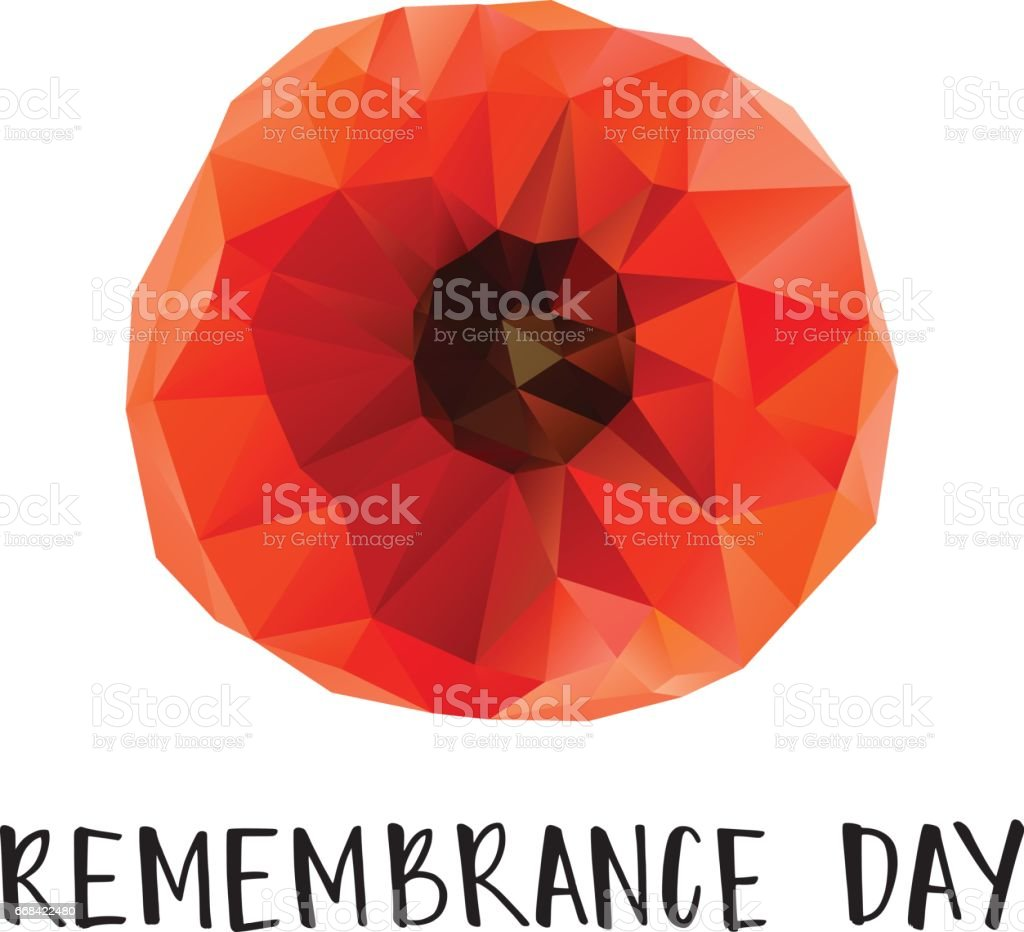 Remembrance Day poster vector art illustration
