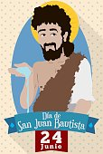 Reminder Date and Portrait for Saint John's Eve in Spanish