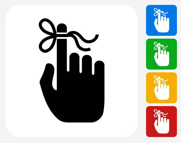 Reminder Icon Flat Graphic Design vector art illustration