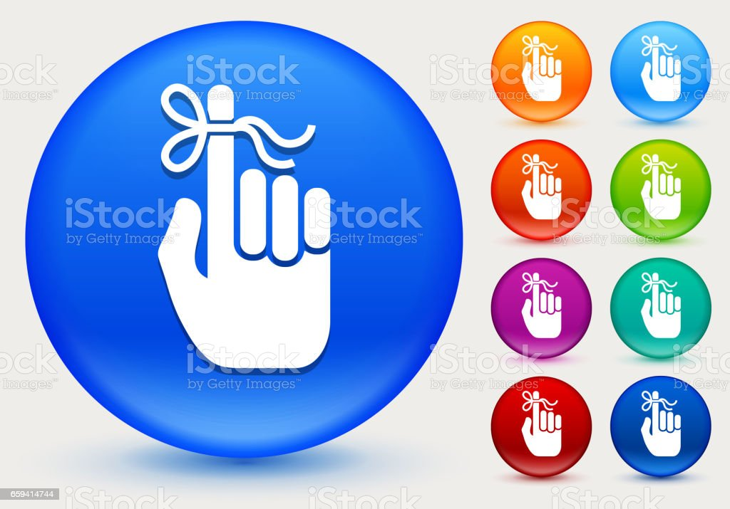 Reminder Icon on Shiny Color Circle Buttons vector art illustration