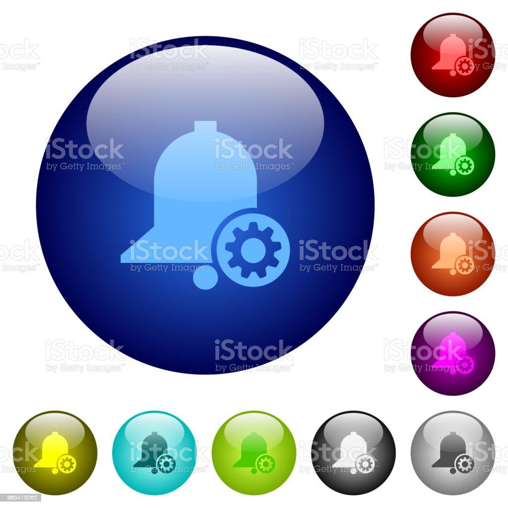 Erinnerungseinstellungen Farbe Glas Knöpfe - Lizenzfrei Aktivitäten und Sport Vektorgrafik