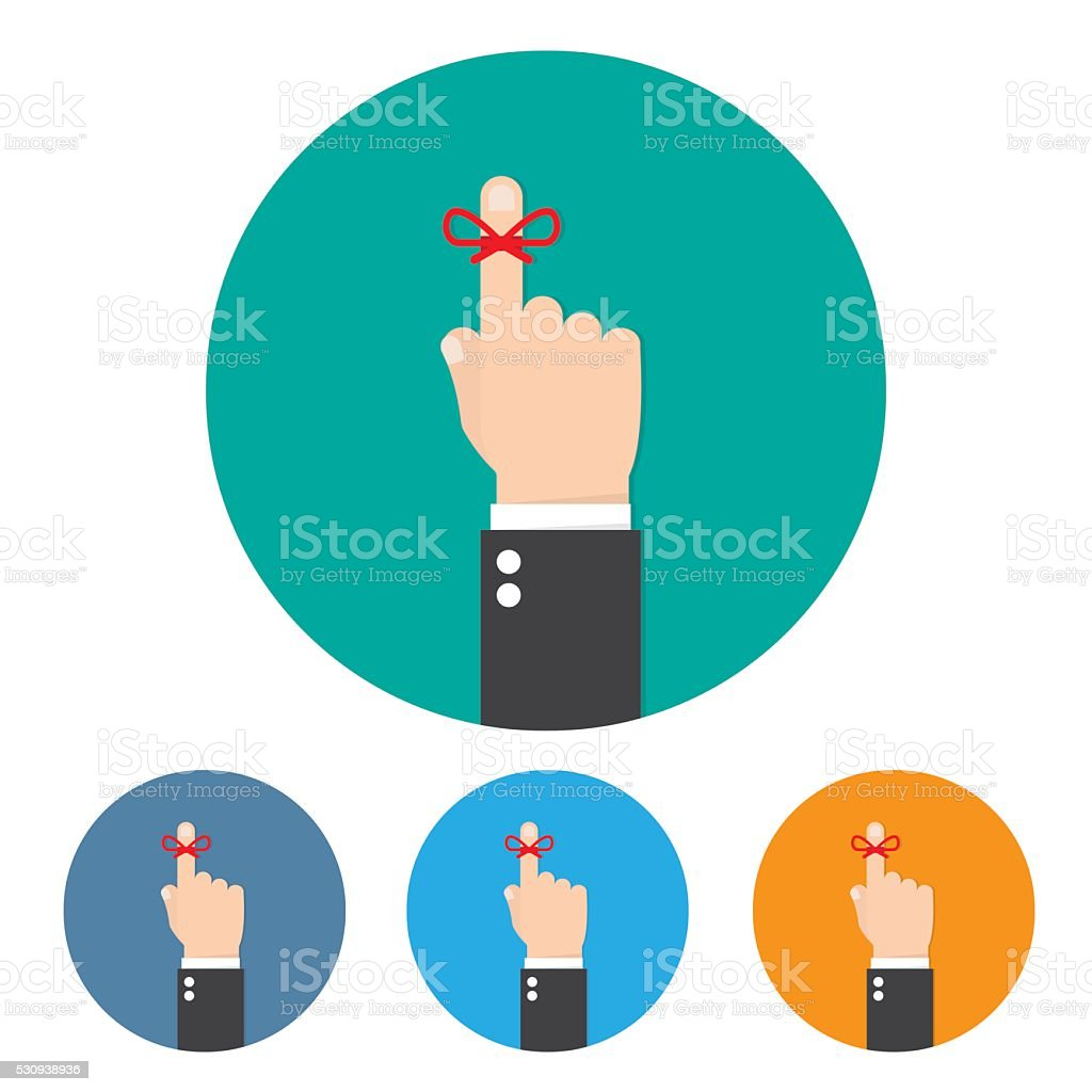 reminder string icon stock illustration download image now istock https www istockphoto com vector reminder string icon gm530938936 93579553