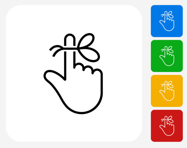 Reminder String on Finger Icon vector art illustration