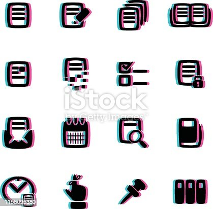 The vector files of reminder icon set.