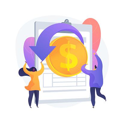 Remittance money vector concept metaphor
