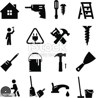 Home remodeling and redecorating icons. Professional icons for your print project or Web site. See more in this series.