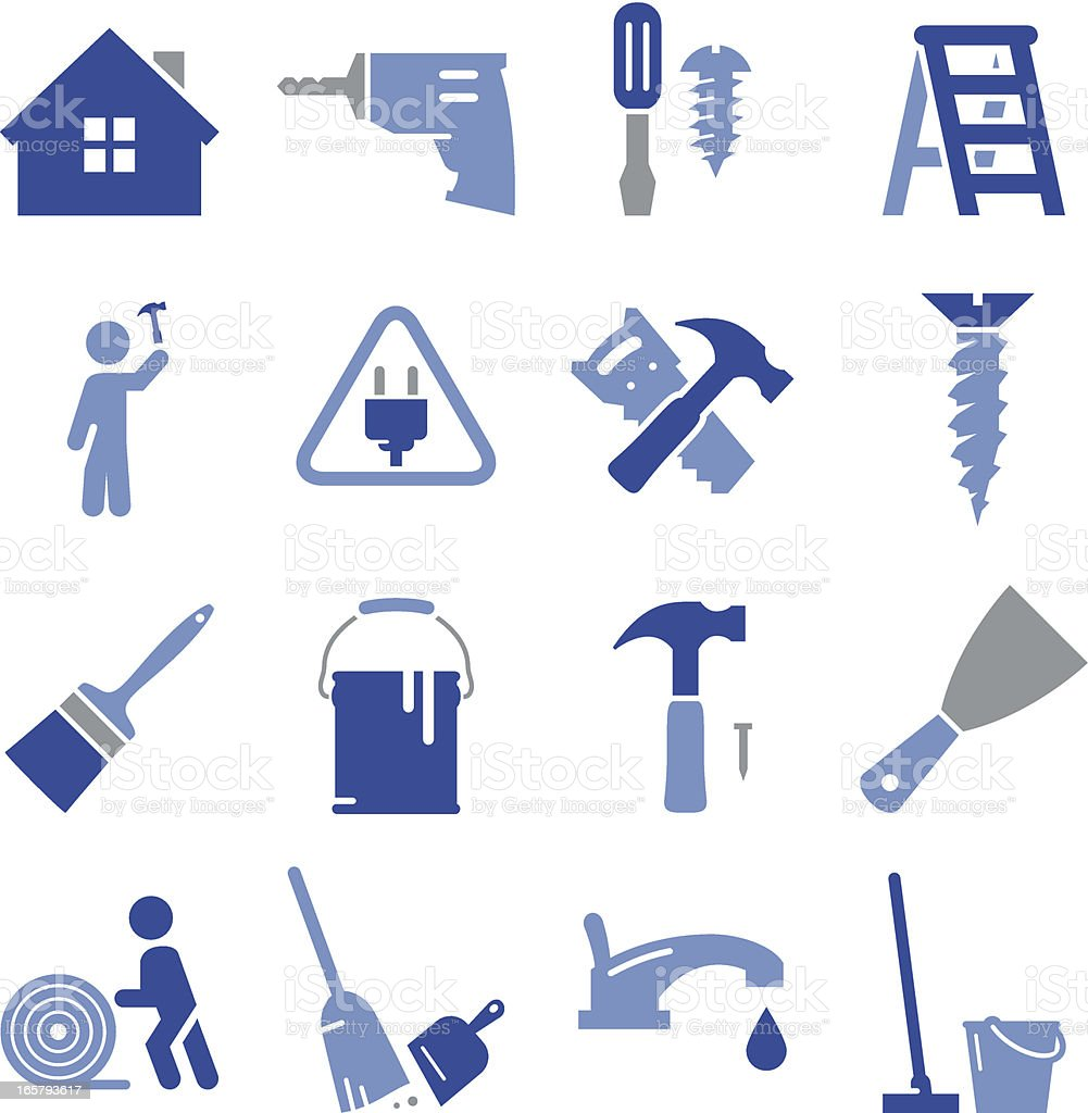 Remodeling Icons - Pro Series vector art illustration