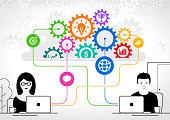 istock Remote collaboration in cloud 1218596991