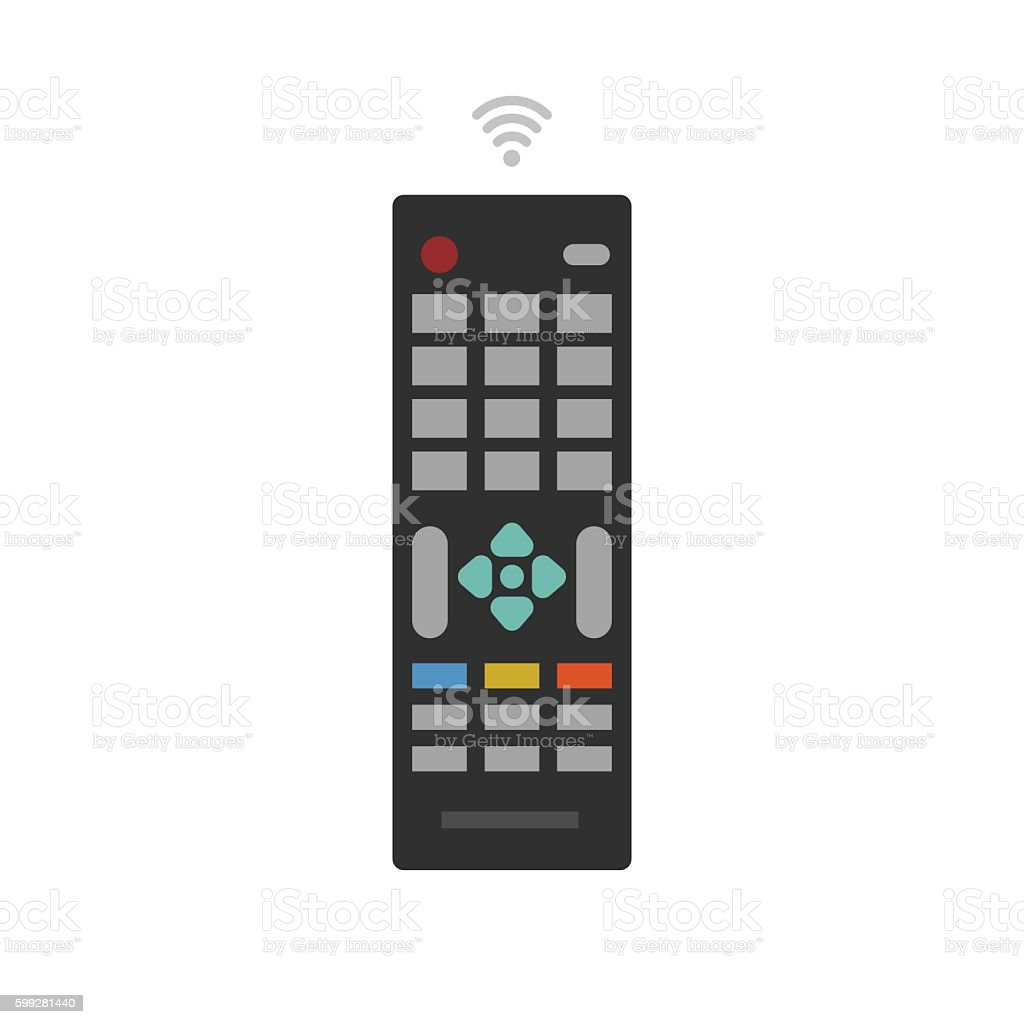 Remote control from TV device vector icon vector art illustration
