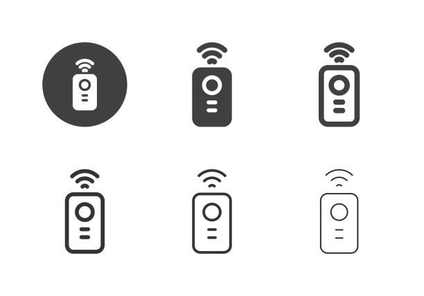 リモートコントロールアイコン - マルチシリーズ - リモート点のイラスト素材/クリップアート素材/マンガ素材/アイコン素材