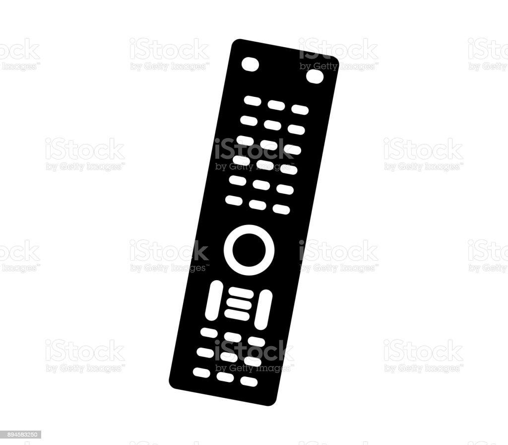TV remote control vector art illustration
