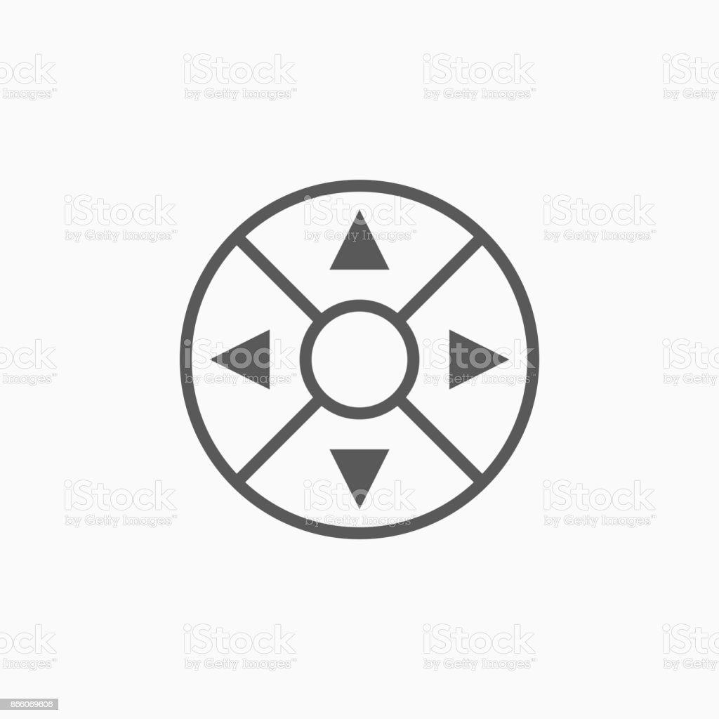 Remote Controllers Dial Knob Joystick Icon Stock