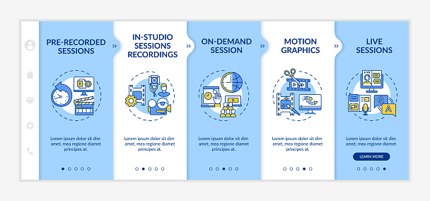 Remote event content onboarding vector template