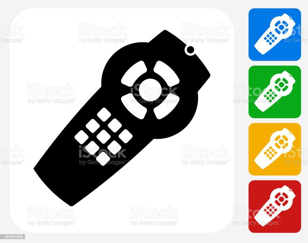 Remote Icon Flat Graphic Design vector art illustration
