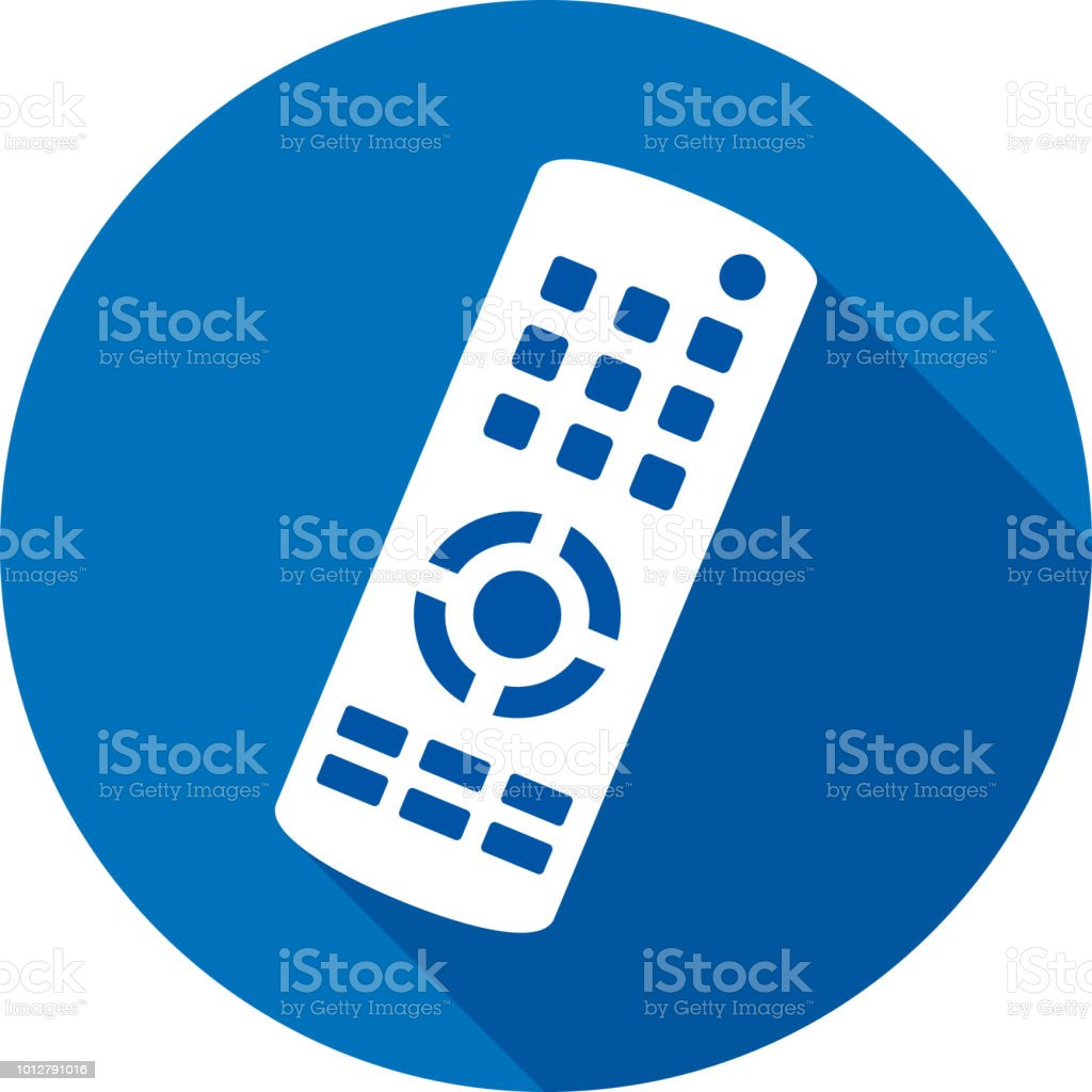 Tv Remote Icon Silhouette Stock Illustration - Download Image Now