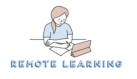 Remote learning with tablet