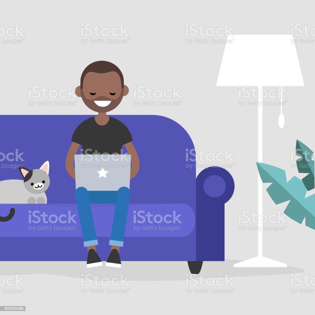 Arbeitszimmer Haustier USA Afrikanischer Abstammung Afro Amerikanischer Herkunft
