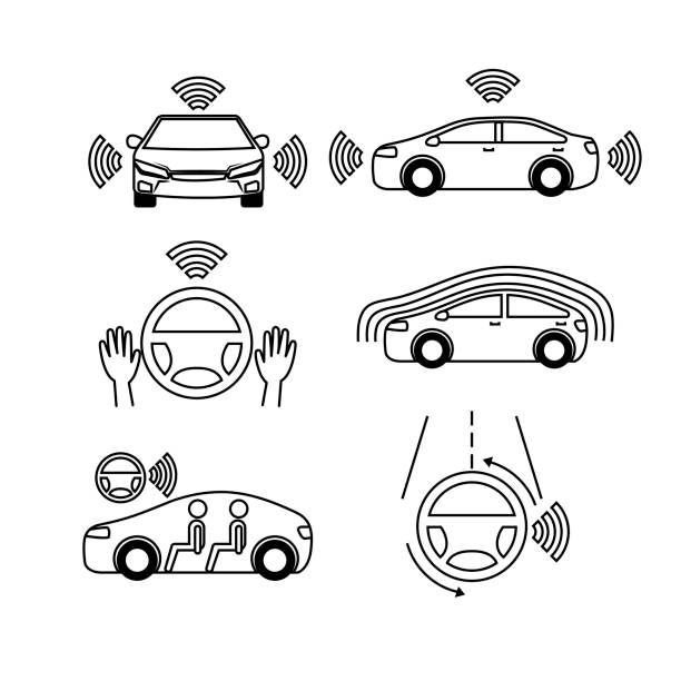 Royalty Free Cruise Control Car Clip Art, Vector Images
