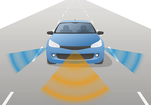 Remote Sensing System of Vehicle, front view - ilustración de arte vectorial