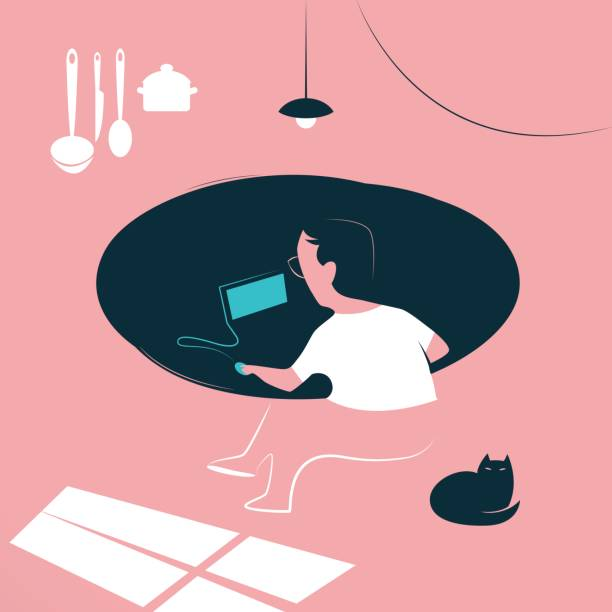 Remote Work - Illustration vectorielle
