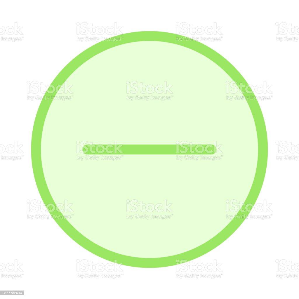 remove colour Line Vector Icon