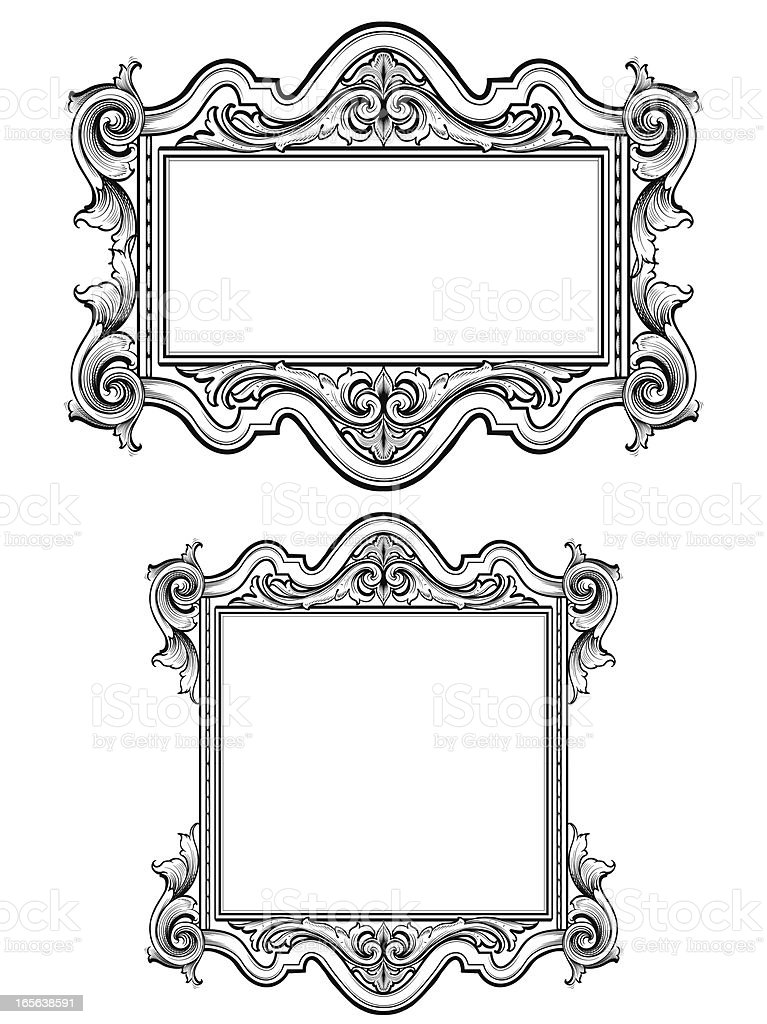 Renaissance Scrollwork Frames Stock Vector Art & More Images of ...