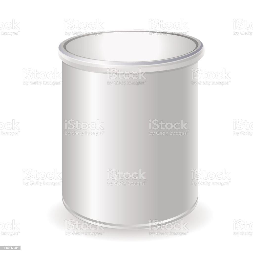 3D-Rendering Satz für Baby-Milchpulver, instant-Kaffee, Müsli etc.. Glas-Mock-up auf weißem Hintergrund – Vektorgrafik