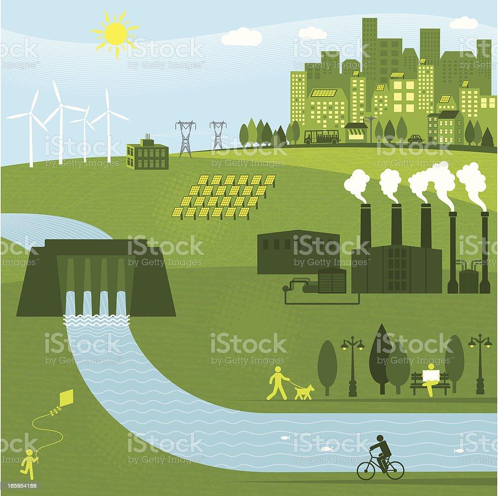 Renewable Energies royalty-free stock vector art