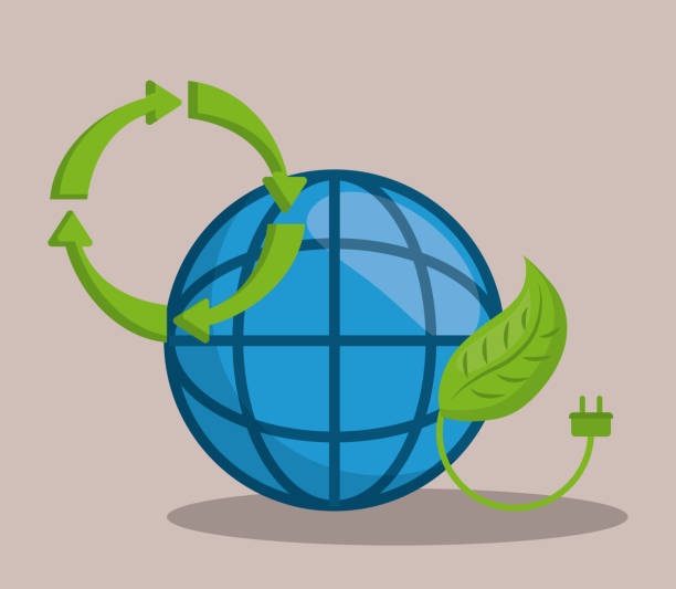 renewable energy design vector art illustration