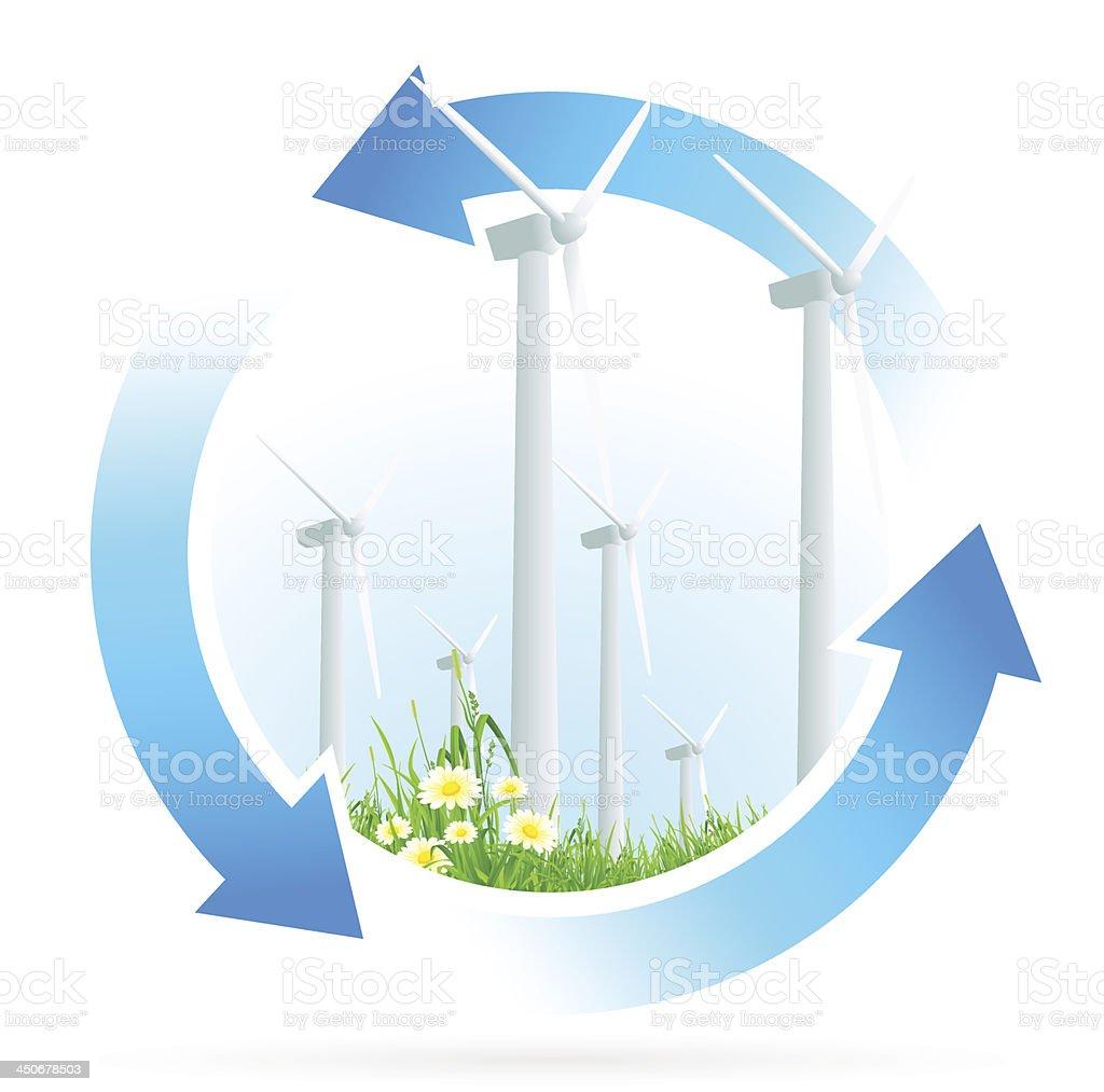 Renewable Energy Icon royalty-free stock vector art