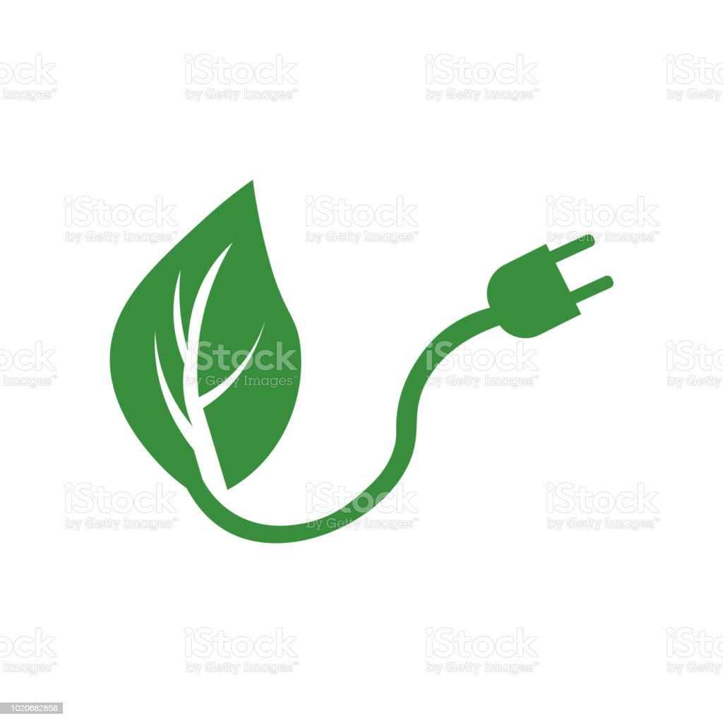 Renewable Energy Icon Vector Sign And Symbol Isolated On