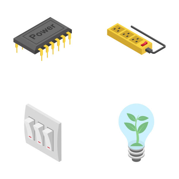 Renewable Energy Icons Pack This is creative renewable energy icons pack having  flat icons which are  administering domestic and commercial power and energy gadgets or tools such as  switches, batteries, lights, grid station, rechargeable battery, green energy, solar panels  portable gadgets and many more. The range of visuals in this pack are designed to be used in miscellaneous projects regarding electrical and mechanical engineering. Accordingly hold this creative and amazing pack for projects associated to this field rechargeable battery stock illustrations