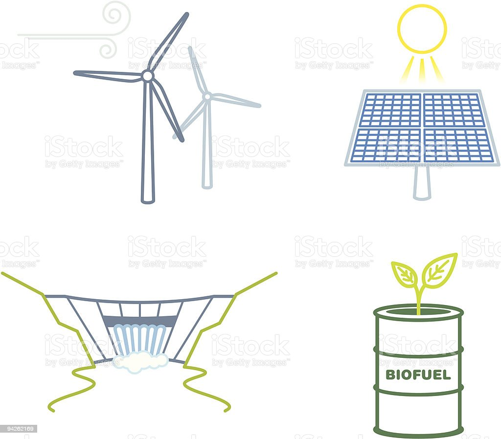 Renewable energy icons royalty-free renewable energy icons stock vector art & more images of alternative energy